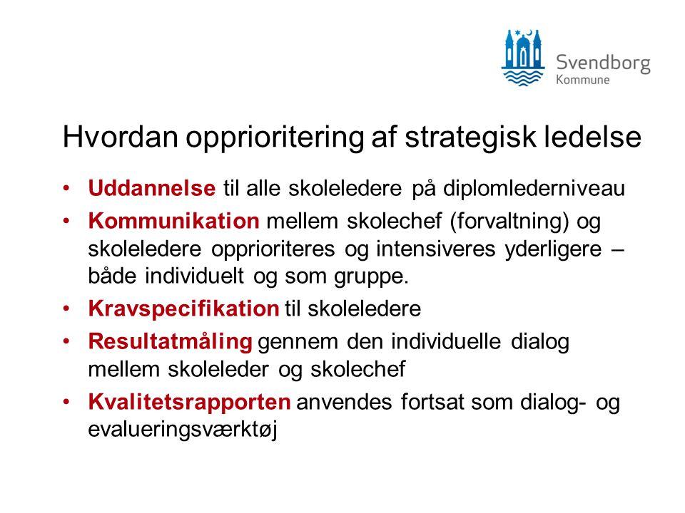 Hvordan opprioritering af strategisk ledelse