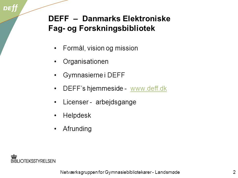 DEFF – Danmarks Elektroniske Fag- og Forskningsbibliotek