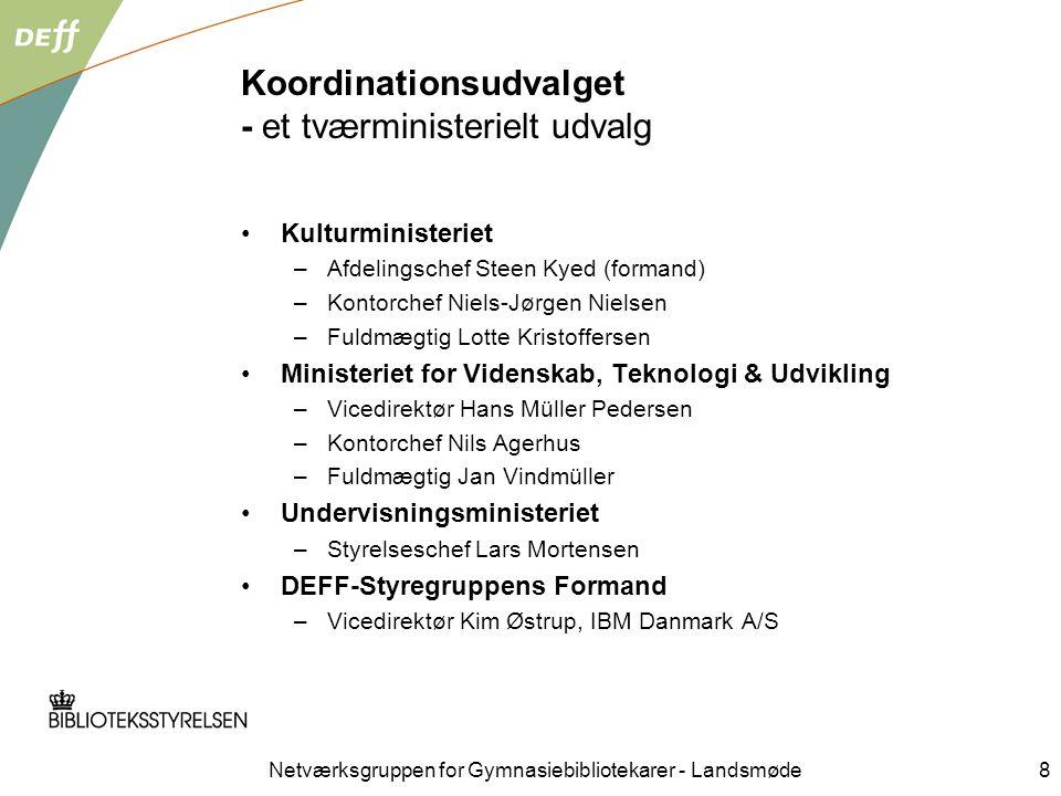 Koordinationsudvalget - et tværministerielt udvalg
