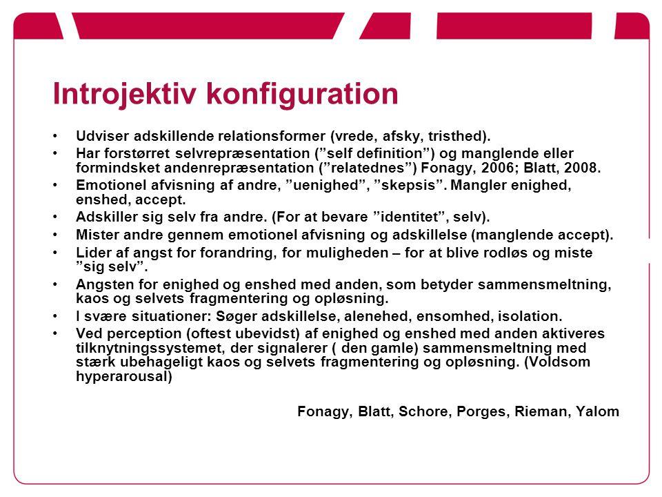 Introjektiv konfiguration
