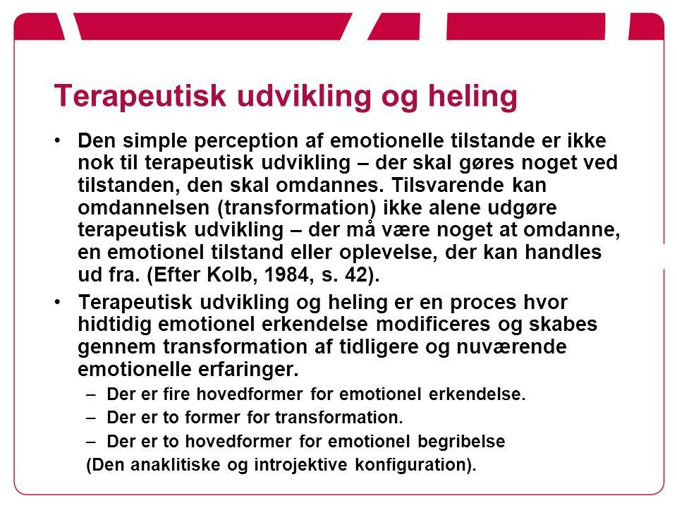 Terapeutisk udvikling og heling
