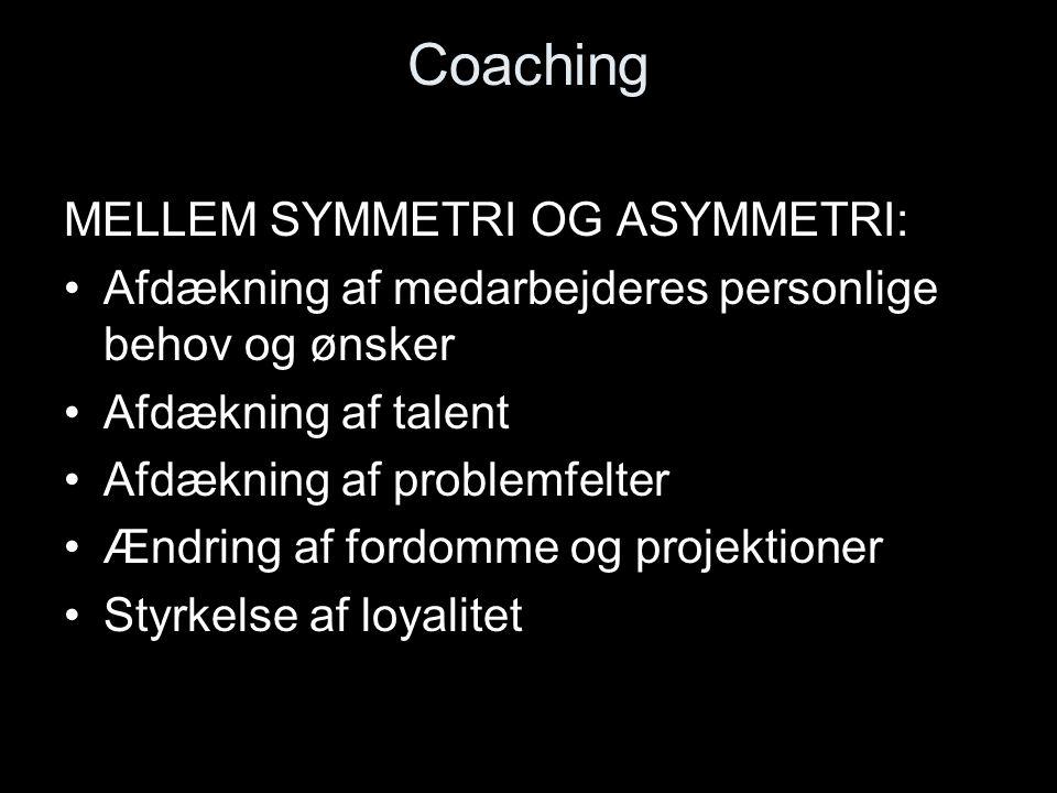 Coaching MELLEM SYMMETRI OG ASYMMETRI: