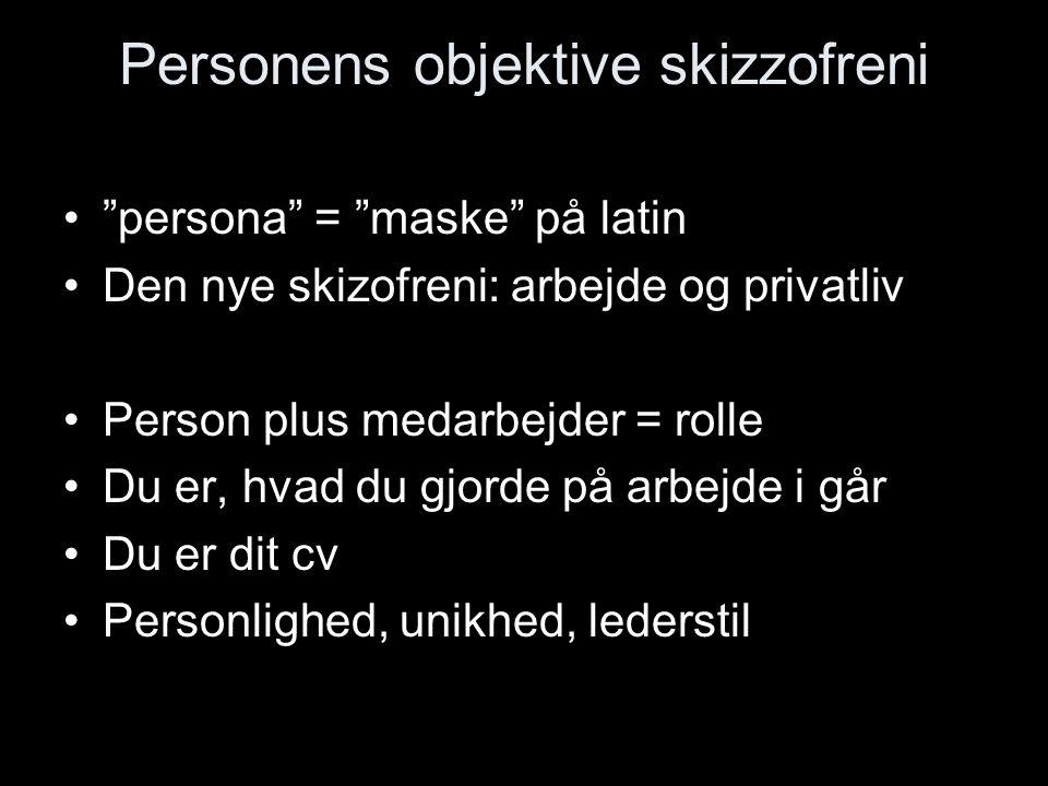 Personens objektive skizzofreni