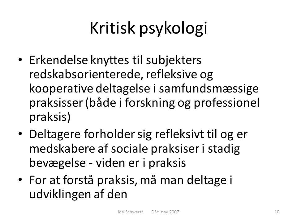 Kritisk psykologi
