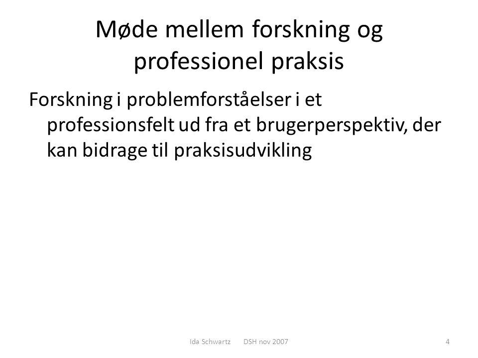 Møde mellem forskning og professionel praksis