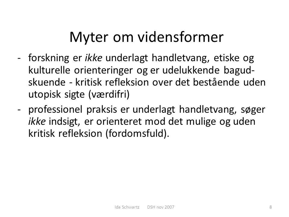 Myter om vidensformer