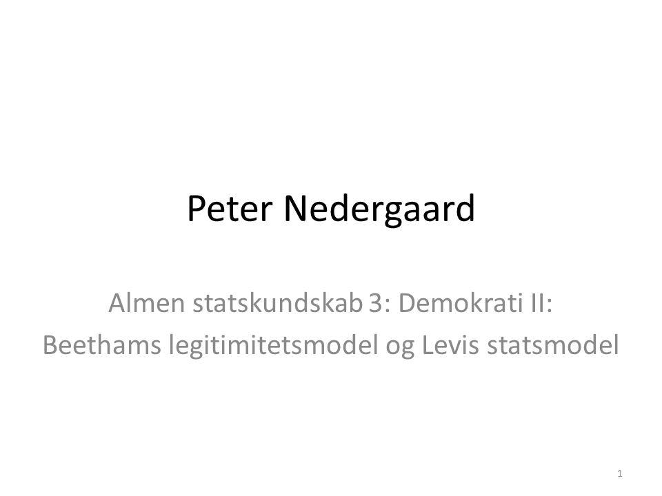 Peter Nedergaard Almen statskundskab 3: Demokrati II: