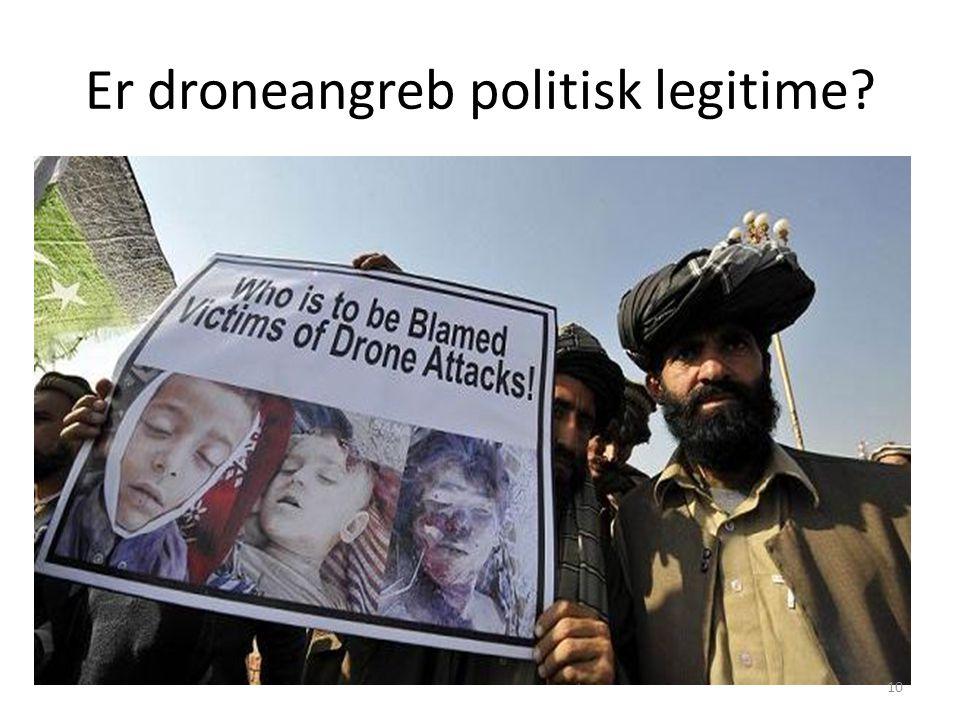 Er droneangreb politisk legitime