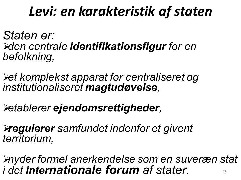Levi: en karakteristik af staten