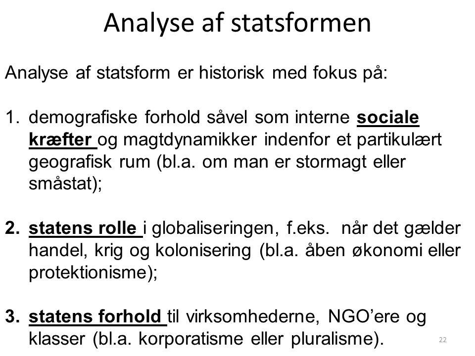 Analyse af statsformen