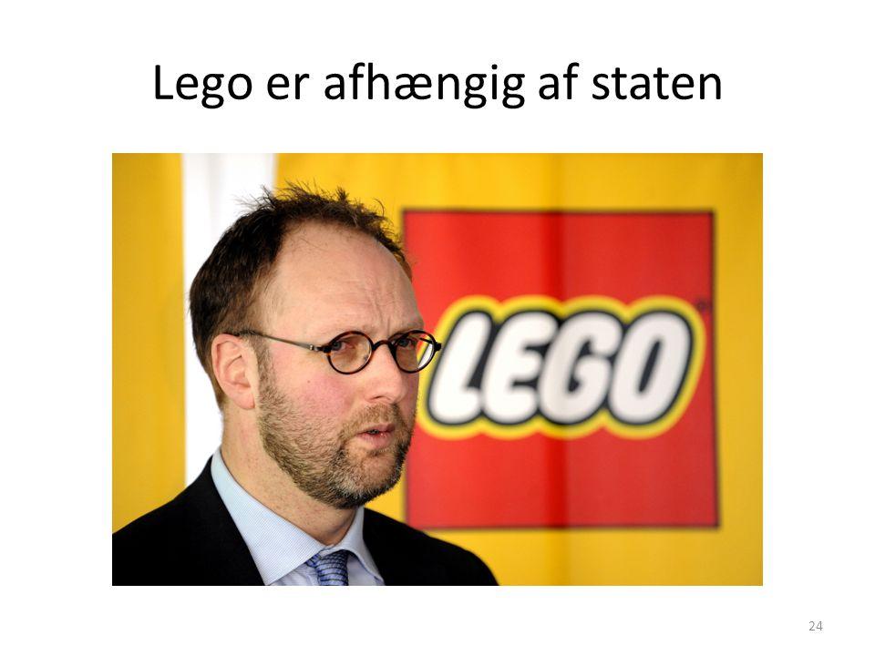 Lego er afhængig af staten