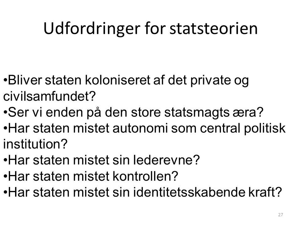Udfordringer for statsteorien
