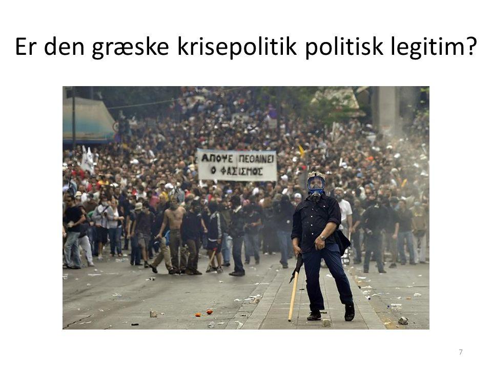 Er den græske krisepolitik politisk legitim