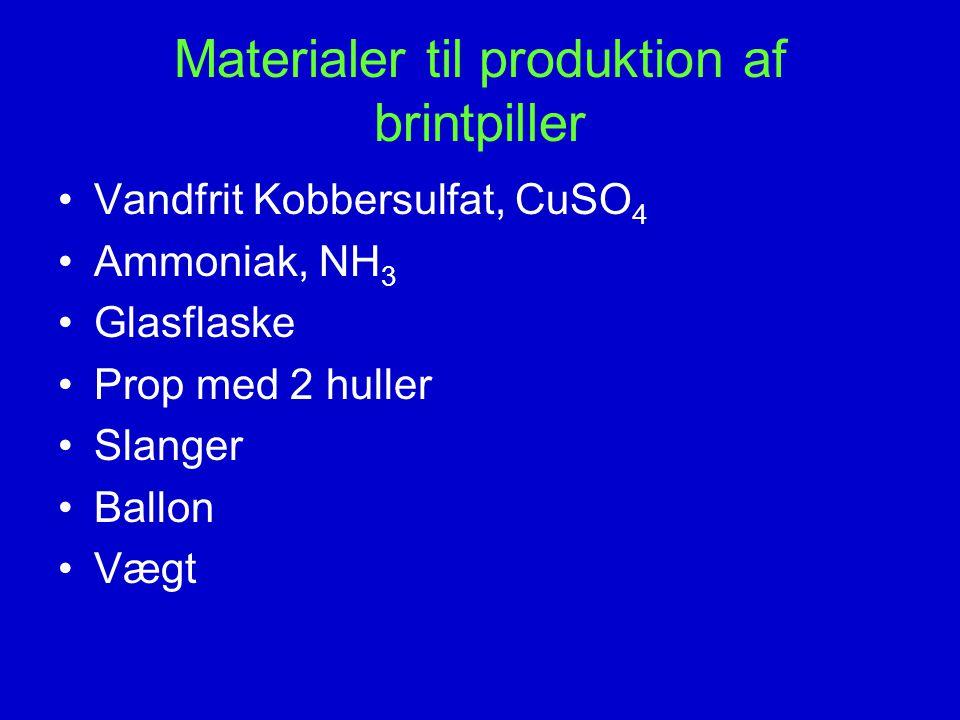 Materialer til produktion af brintpiller