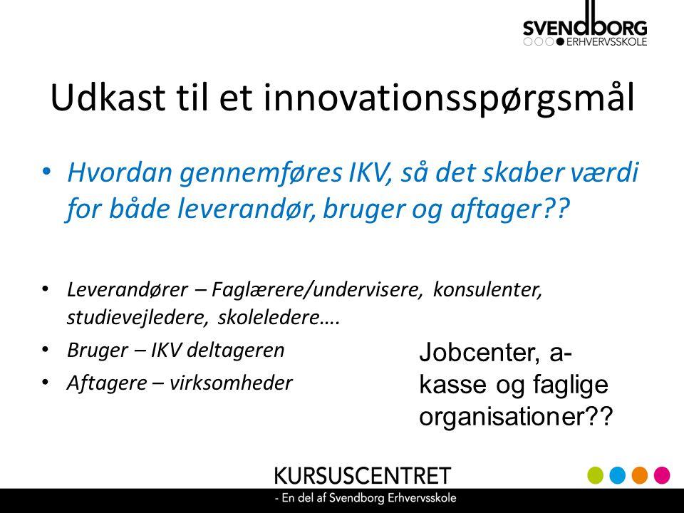 Udkast til et innovationsspørgsmål