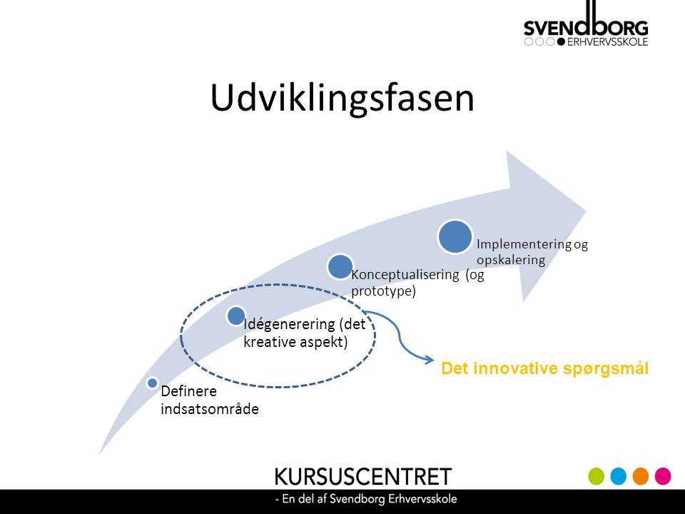 Udviklingsfasen Det innovative spørgsmål