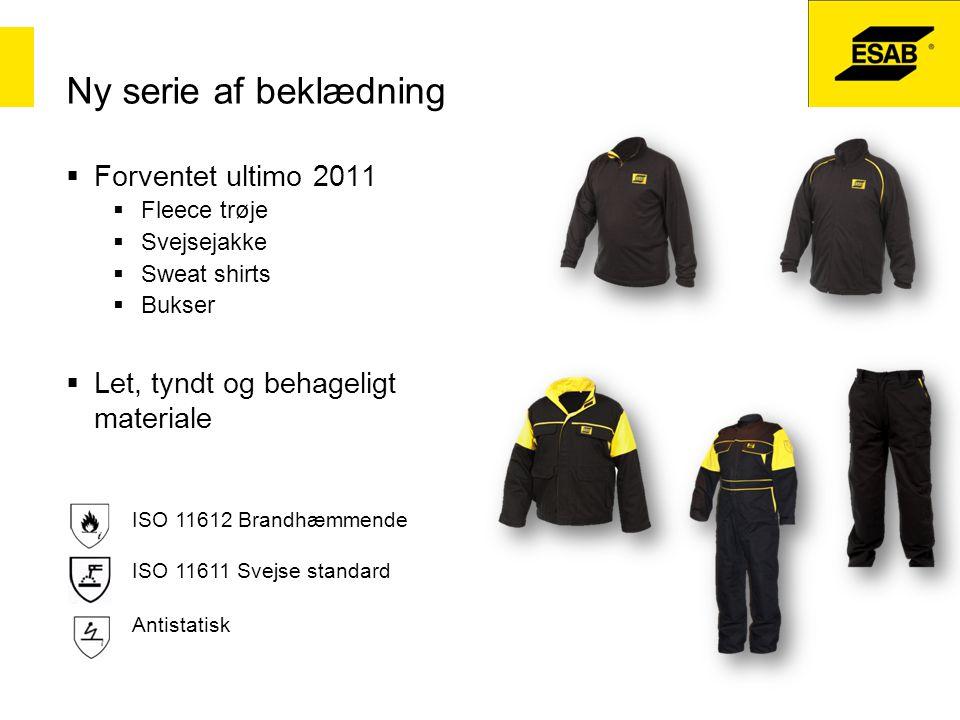 Ny serie af beklædning Forventet ultimo 2011