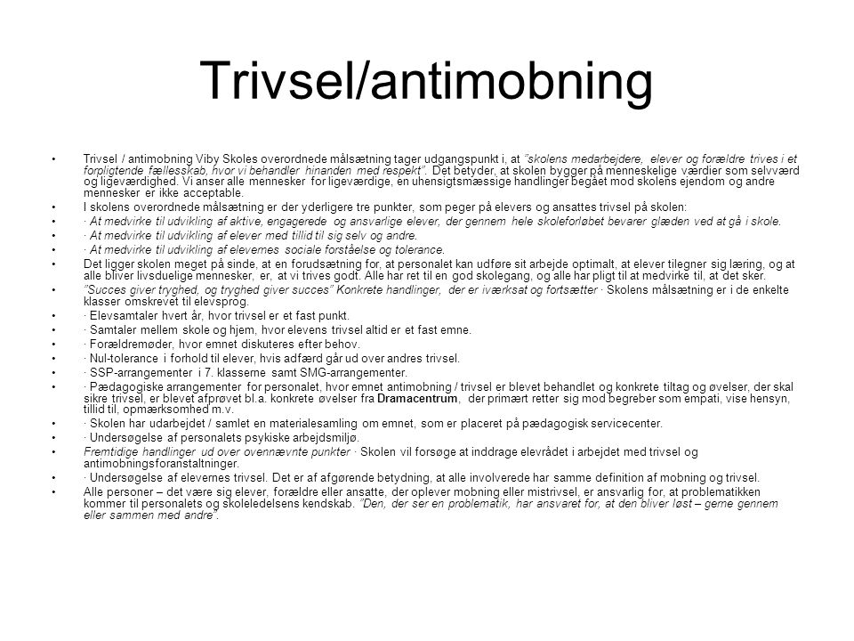 Trivsel/antimobning