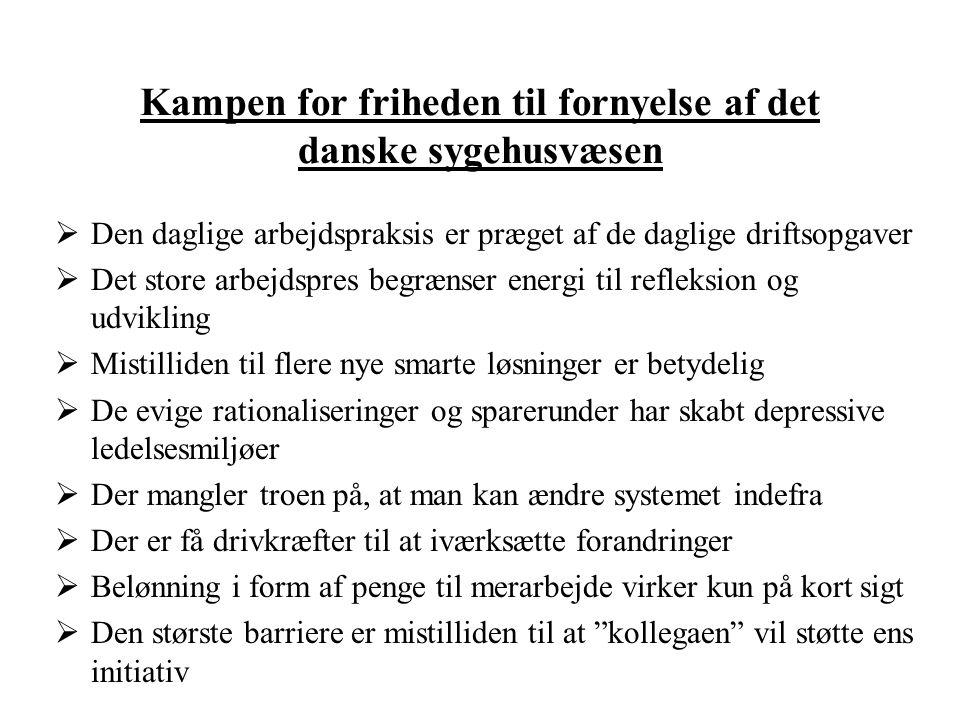 Kampen for friheden til fornyelse af det danske sygehusvæsen