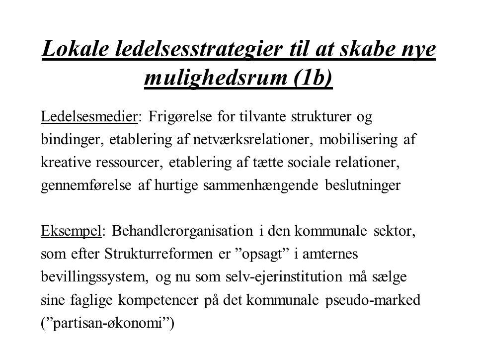Lokale ledelsesstrategier til at skabe nye mulighedsrum (1b)
