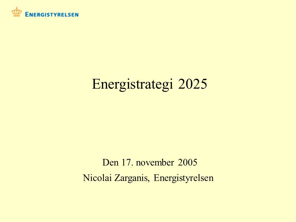 Nicolai Zarganis, Energistyrelsen