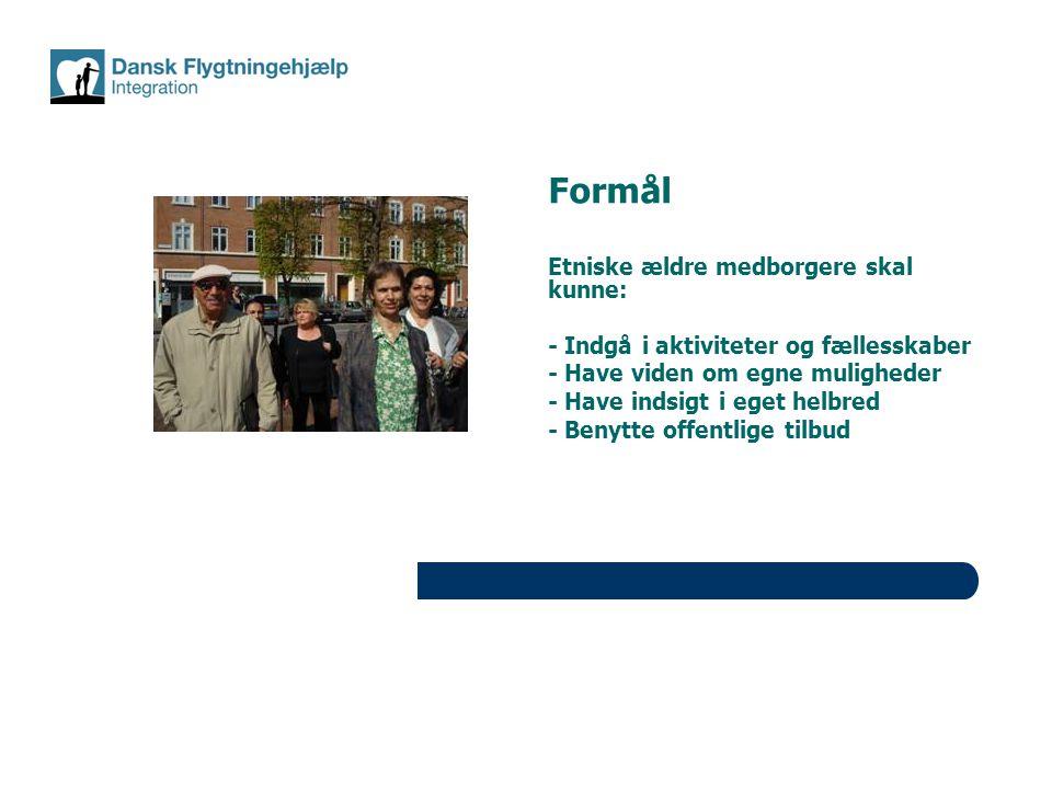 Formål Etniske ældre medborgere skal kunne: