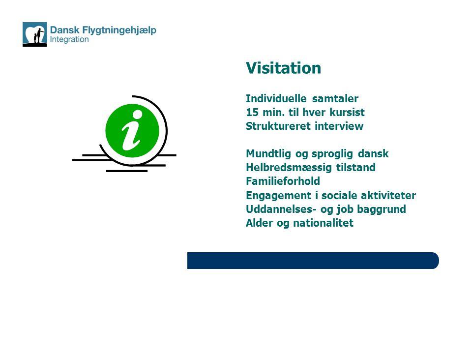 Visitation Individuelle samtaler 15 min. til hver kursist