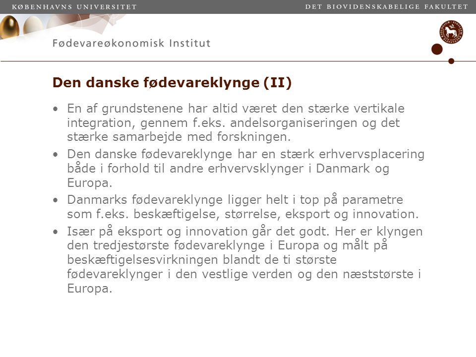 Den danske fødevareklynge (II)