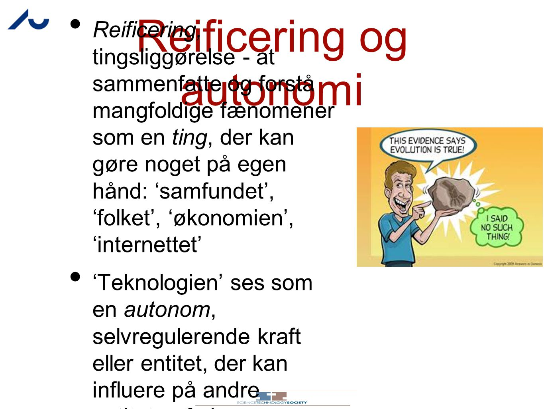 Reificering og autonomi