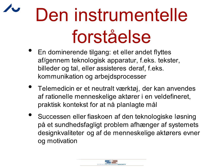 Den instrumentelle forståelse