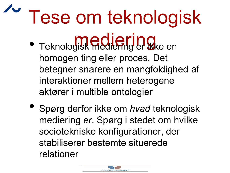 Tese om teknologisk mediering