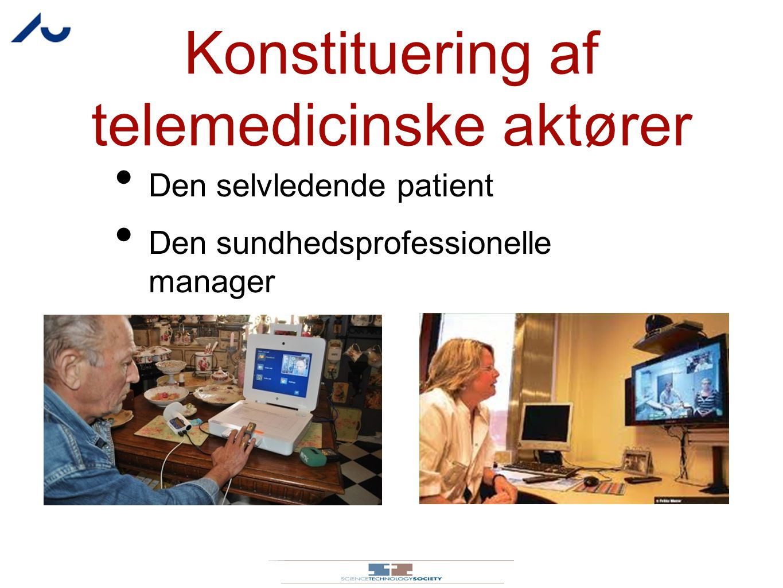 Konstituering af telemedicinske aktører