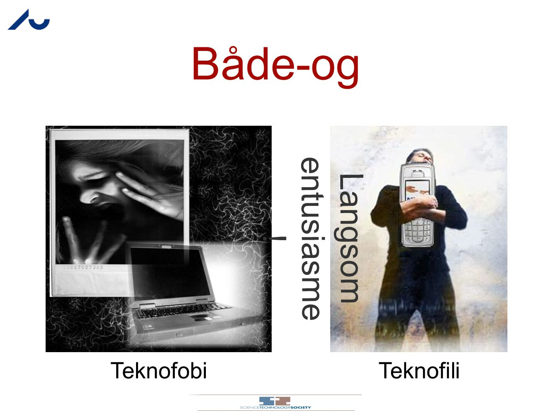 Både-og Langsom entusiasme! Teknofobi Teknofili