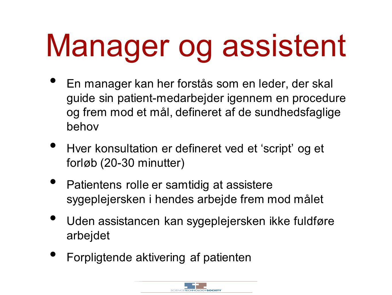 Manager og assistent