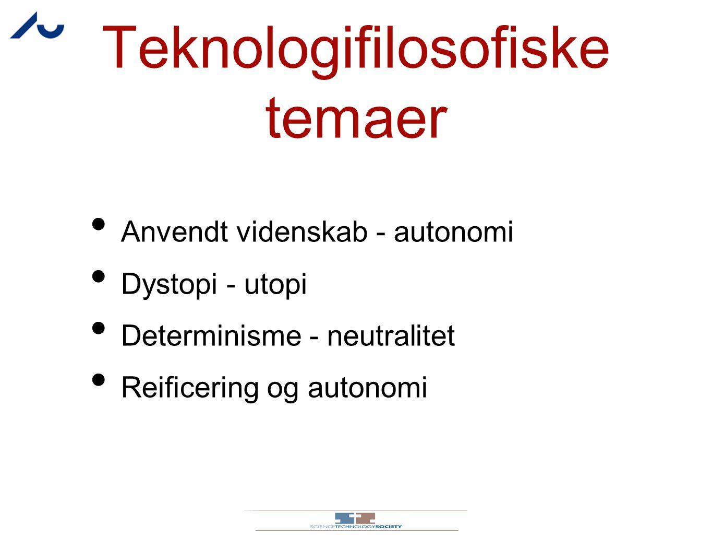 Teknologifilosofiske temaer