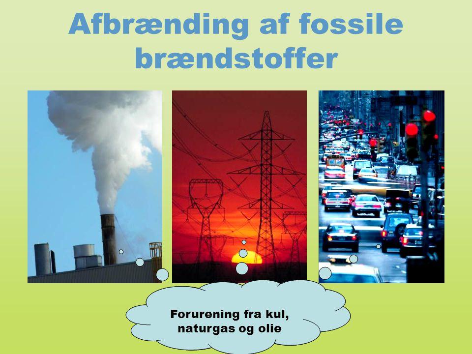 Afbrænding af fossile brændstoffer