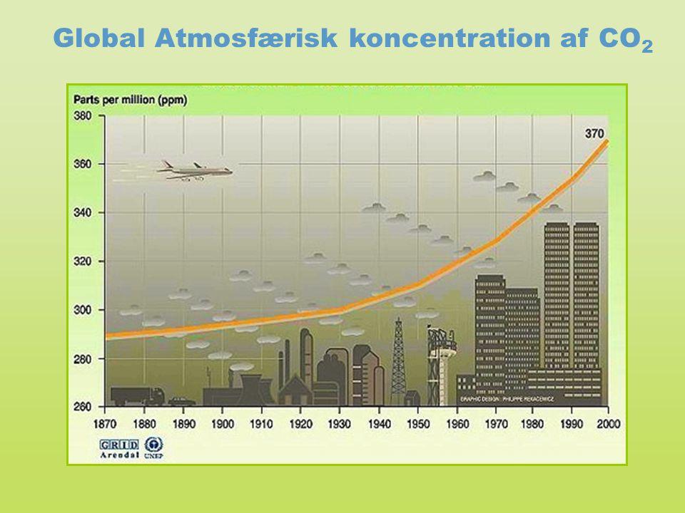 Global Atmosfærisk koncentration af CO2