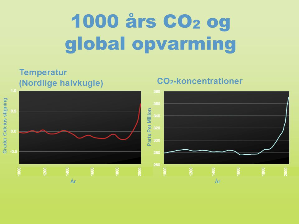 1000 års CO2 og global opvarming