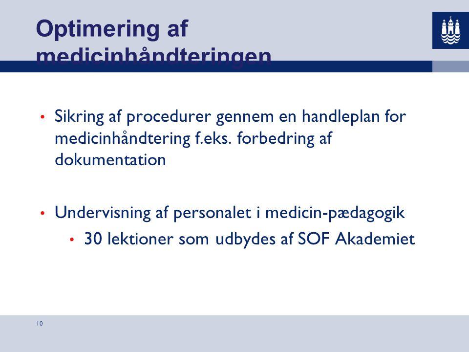 Optimering af medicinhåndteringen