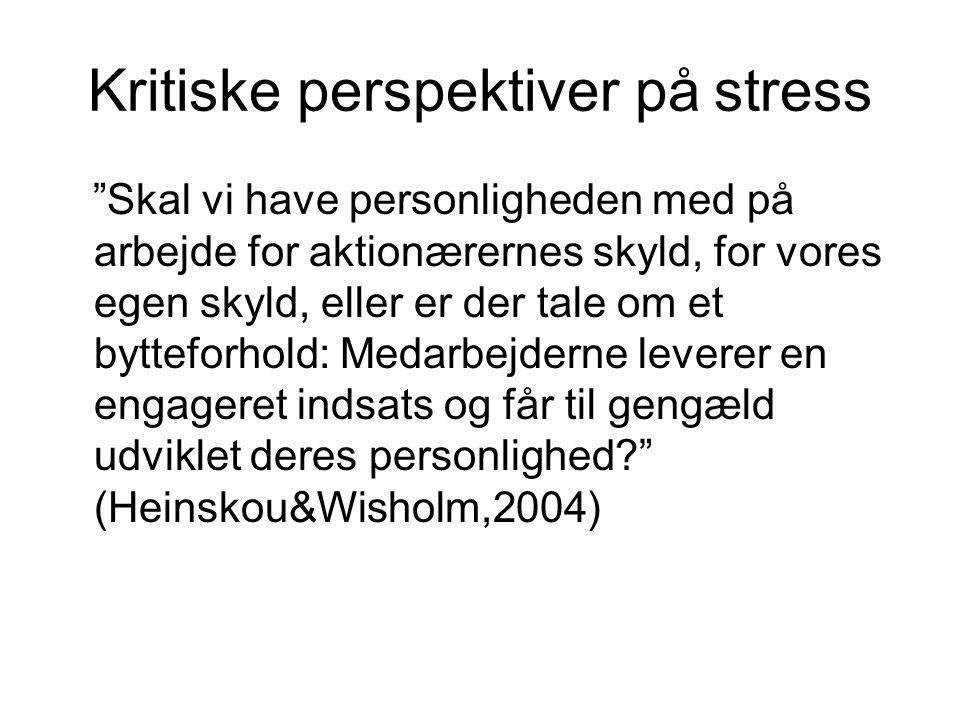 Kritiske perspektiver på stress