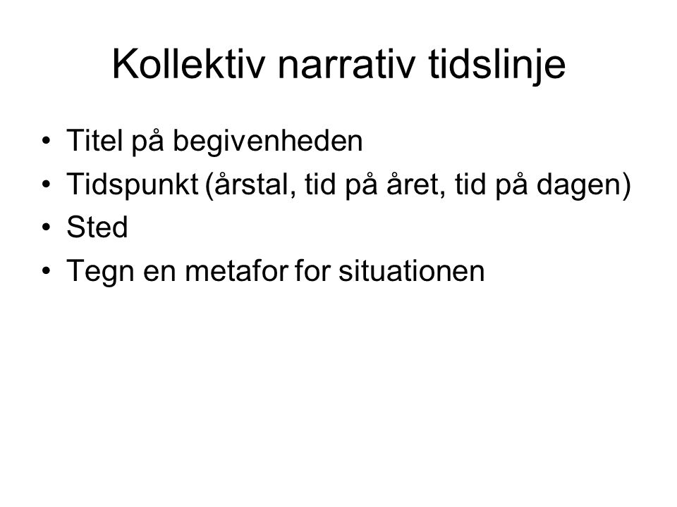 Kollektiv narrativ tidslinje