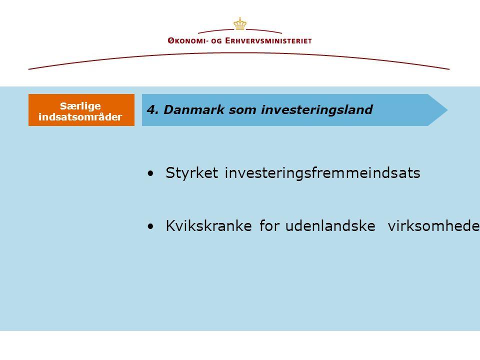 Styrket investeringsfremmeindsats