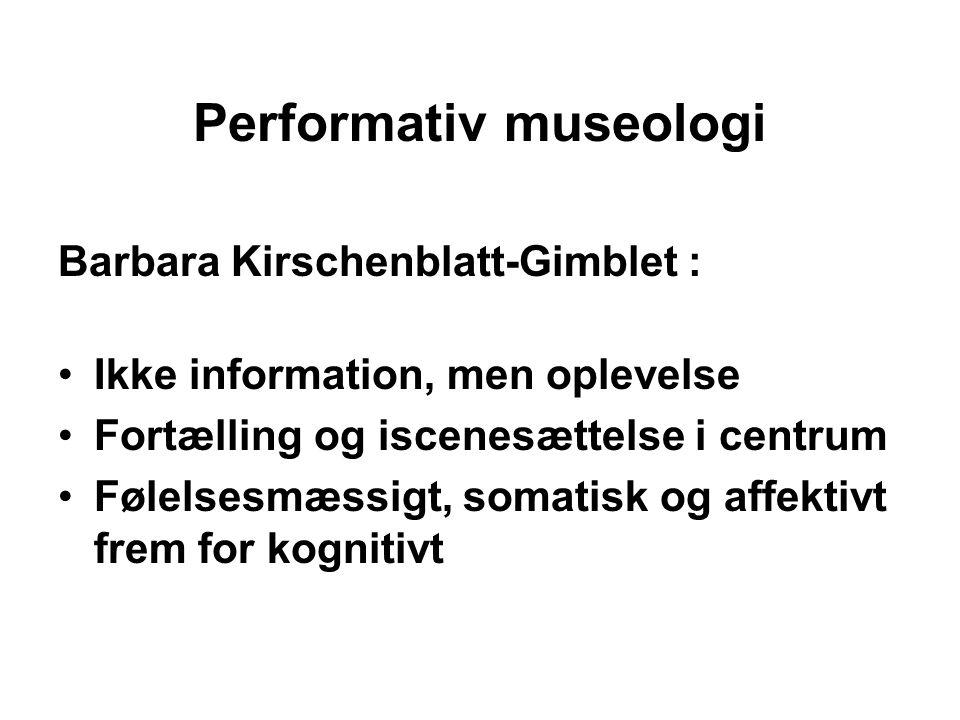Performativ museologi