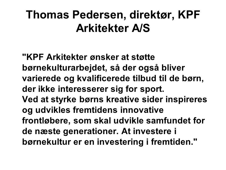 Thomas Pedersen, direktør, KPF Arkitekter A/S