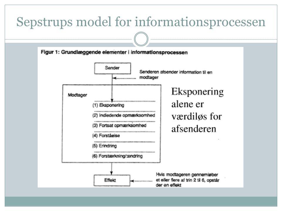 Sepstrups model for informationsprocessen