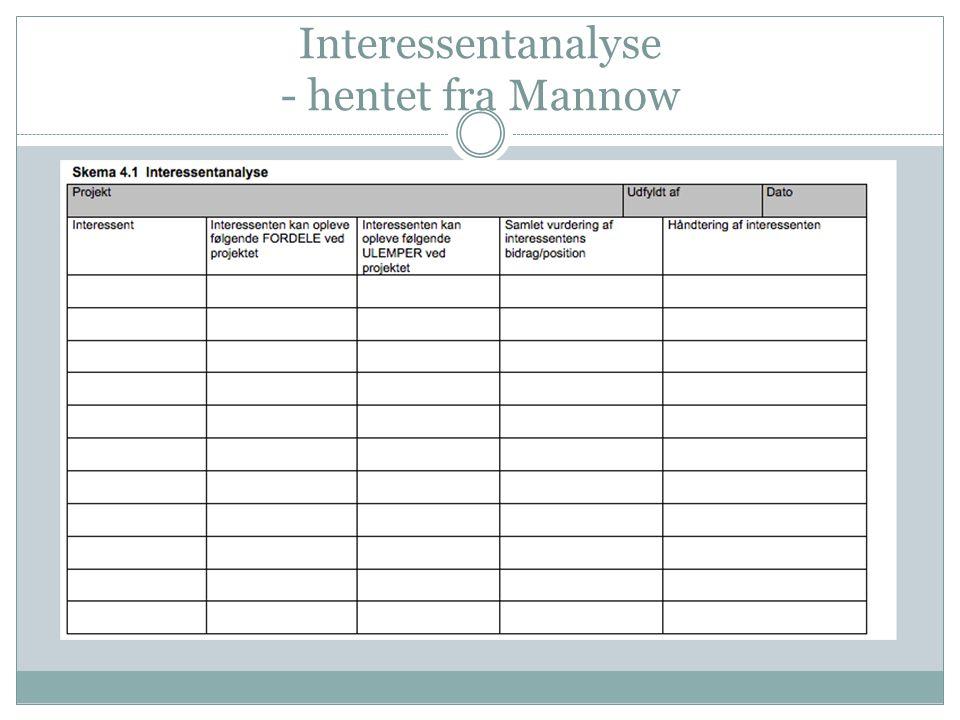 Interessentanalyse - hentet fra Mannow