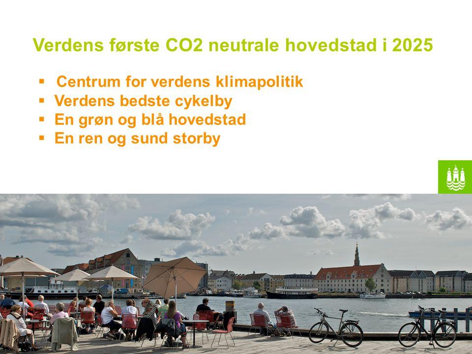 Verdens første CO2 neutrale hovedstad i 2025
