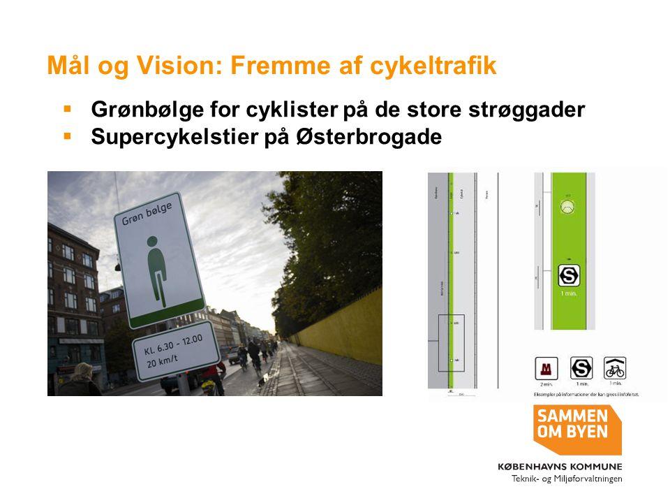 Mål og Vision: Fremme af cykeltrafik