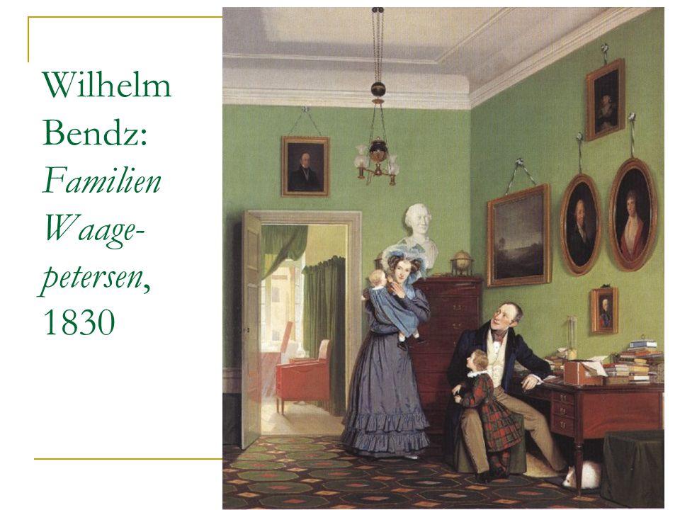Wilhelm Bendz: Familien Waage- petersen, 1830