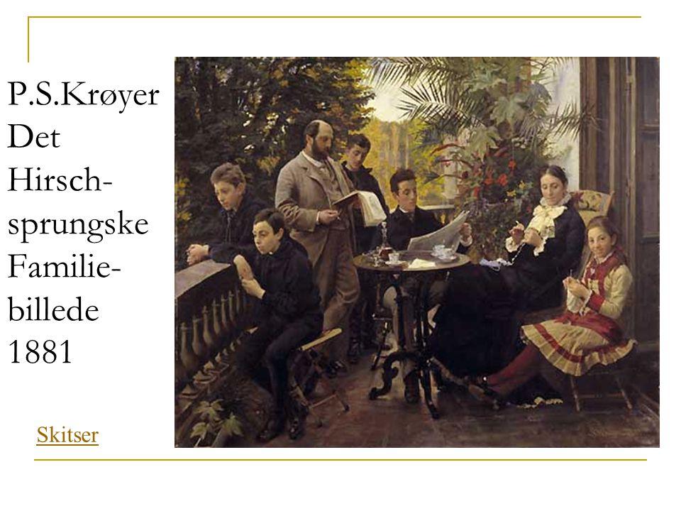 P.S.Krøyer Det Hirsch- sprungske Familie- billede 1881